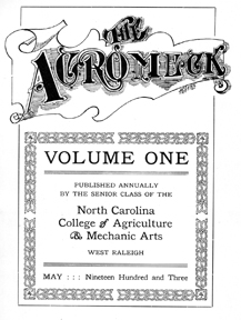 1903 yearbook title page