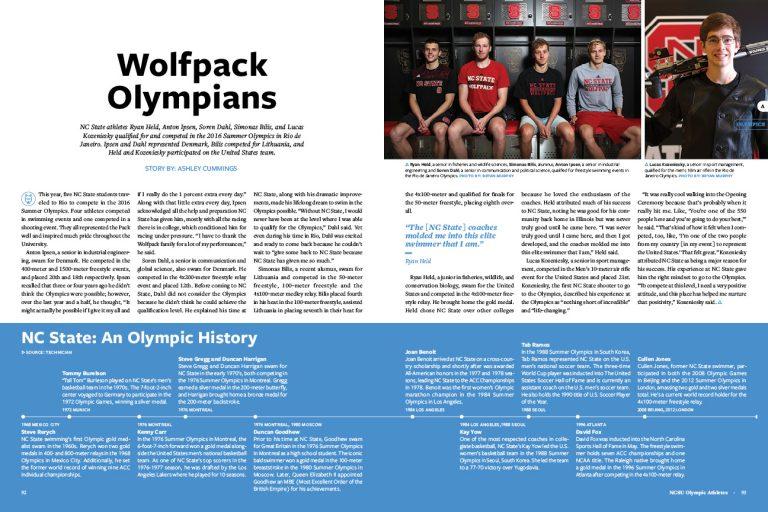 Spread of the Deadline   Wolfpack Olympians