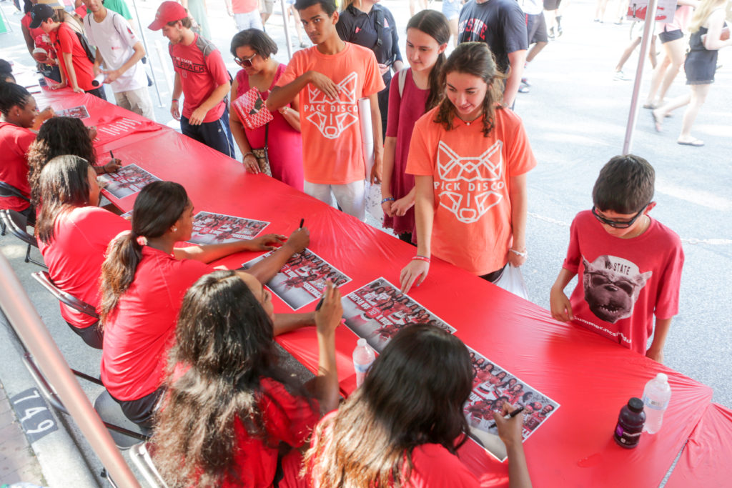 womens bball signing at packapalooza