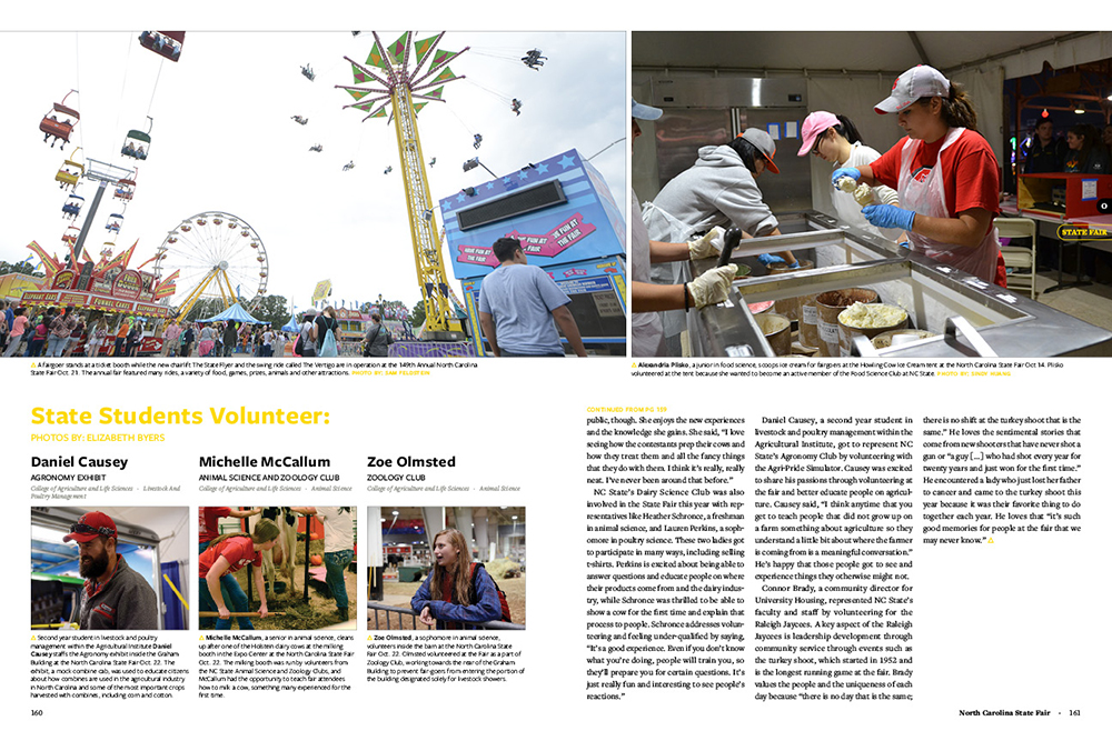 Yearbook spread of NC State fair