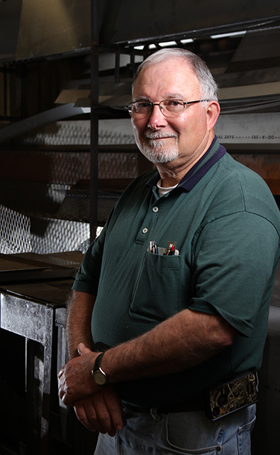 David Buffaloe, instrument shop supervisor at the Bio&Ag Research Shop.  Portrait by Tyler Andrews 2/27/2013