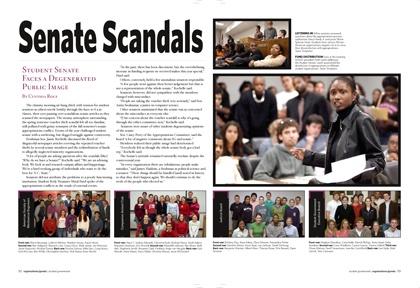 Agromeck yearbook page senate scandals