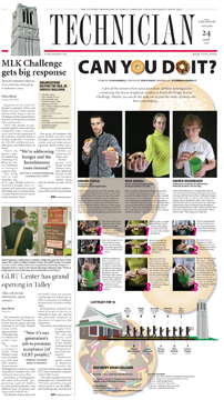 Page 1 design by Susannah Brinkley, Jan. 24, 2008