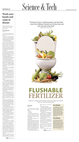 Technician newspaper front page fertilizer