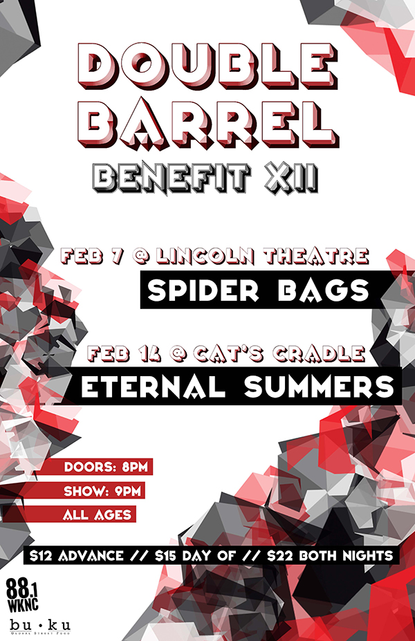 WKNC Double Barrel Benefit 12 poster
