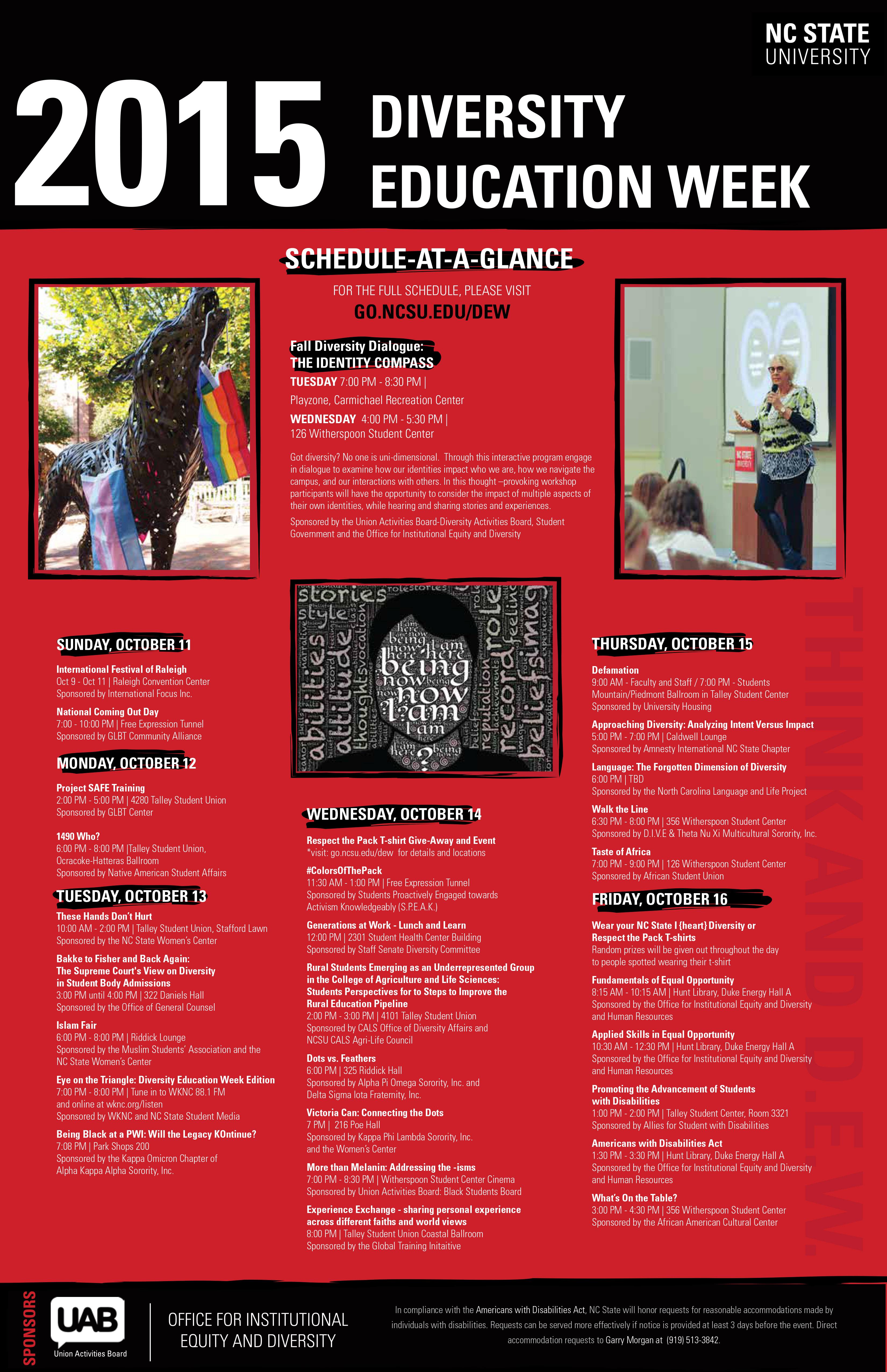 NC State DEW 2015 calendar