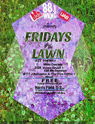 Spring 2014 Fridays on the Lawn flier