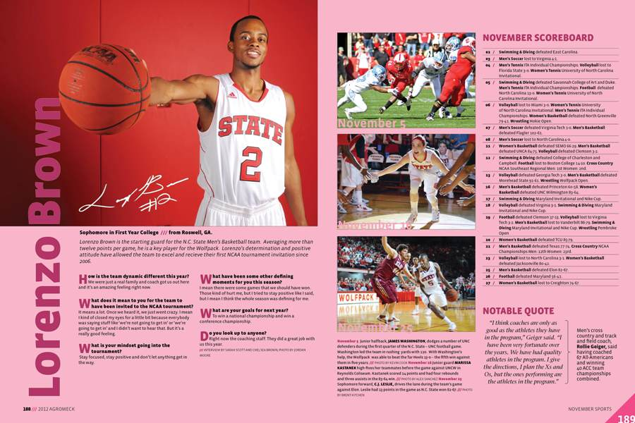 Agromeck November Sports spread