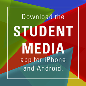 ad for Student Media mobile app