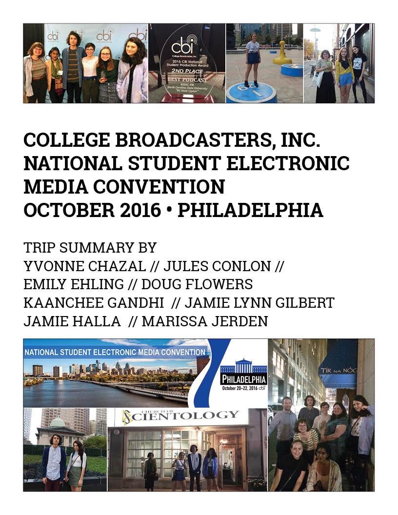 CBI Philadelphia trip summary