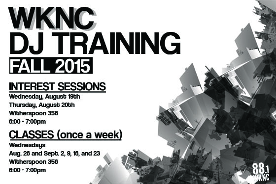 WKNC Fall 2015 DJ Training