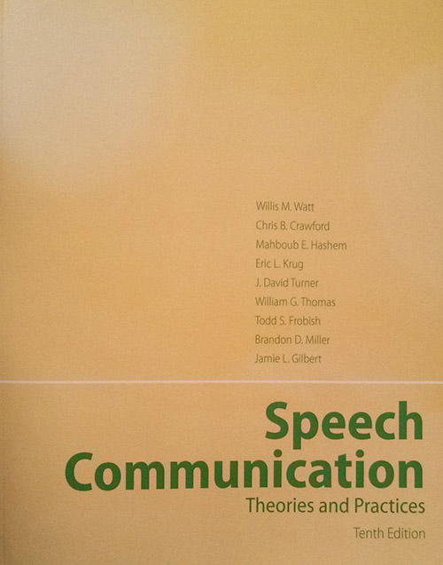 Speech Communication Theories and Practices textbook cover
