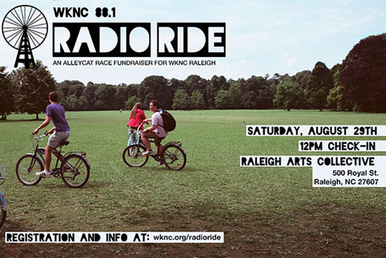 WKNC's Radio Ride flier