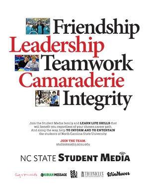 Student Media recruitment flier