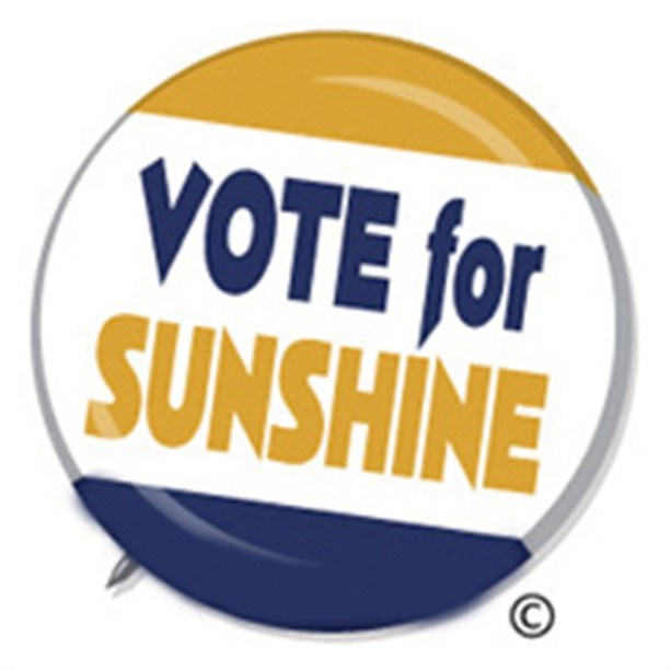 Vote for Sunshine button